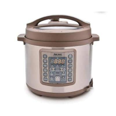 4 Qt. Brown Electric Multi-Cooker with Aluminum Pot
