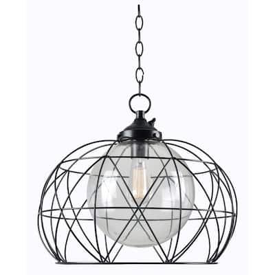 Cavea Bronze 1-Light Outdoor Hanging Pendant
