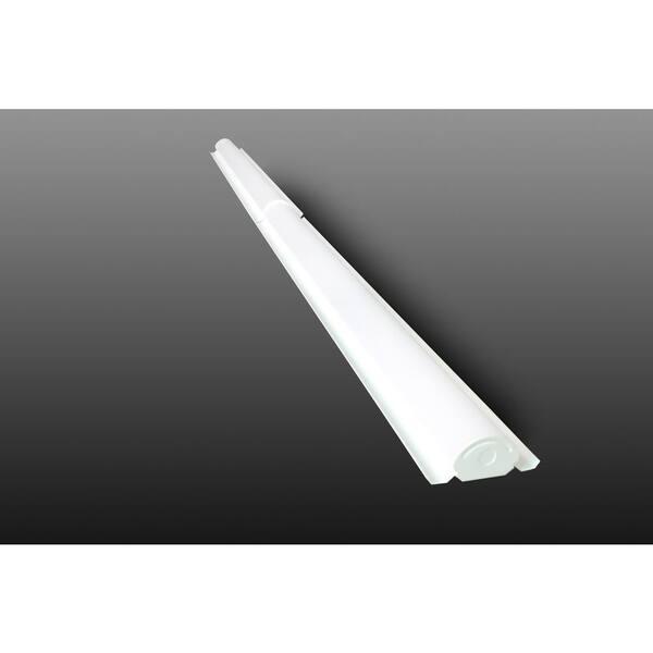 Halco Lighting Technologies 8 Ft 118 Watt Equivalent 72 Watt White 4000k Integrated Led Retrofit Linear Strip Light 9800 Lumen Multivolt Cool White Lsrk8 72u40 10250 The Home Depot