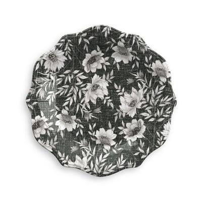 "6 pack Farmhouse Botanical Salad Plate, 9"", Melamine"