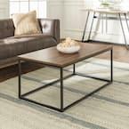 42 in. Dark Walnut Large Rectangle Wood Coffee Table