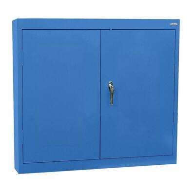 Steel 1-Shelf Wall Mounted Garage Cabinet in Dove Gray (30 in W x 30 in H x 12 in D)
