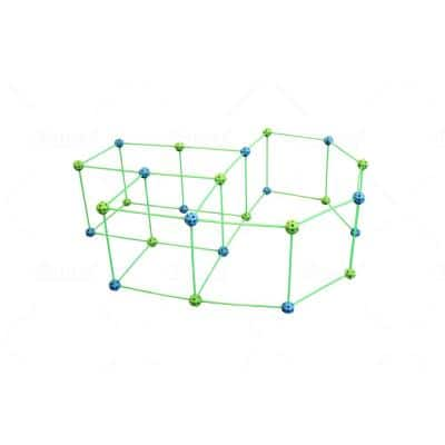 Fort for Supersized Glow in the Dark Fort Building (Blue and Green Balls) (154-Pieces Set)