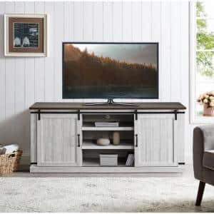 68 in. White TV Stand for TVs Upto 70 in.