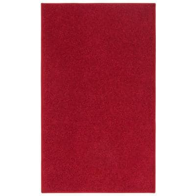 OurSpace Red 7 ft. x 10 ft. Bright Area Rug