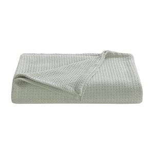 Bahama Coast Grey Woven-Cotton King Blanket