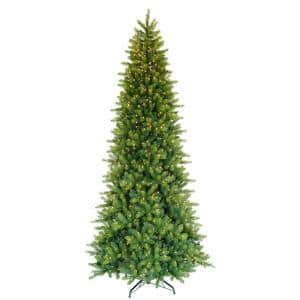9 ft. Pre-Lit Slim Forest Fir Artificial Christmas Tree with 900 Incandescent Lights