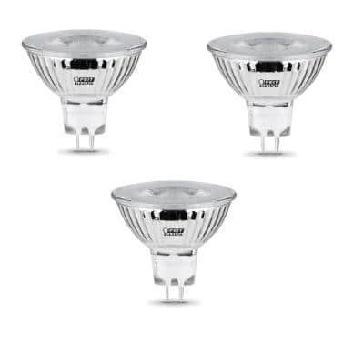 50-Watt Equivalent MR16 GU5.3 Bi-Pin Dimmable 12-Volt Track Lighting 90+ CRI LED Flood Light Bulb, Daylight (3-Pack)
