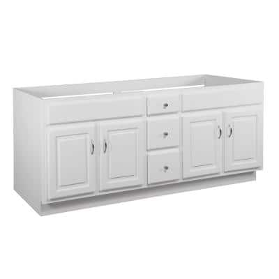 Concord 72 in. W x 21 in. D Bath Vanity Cabinet Only in White Gloss (Ready to Assemble)