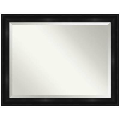 Grand Black 45.75 in. x 35.75 in. Bathroom Vanity Mirror