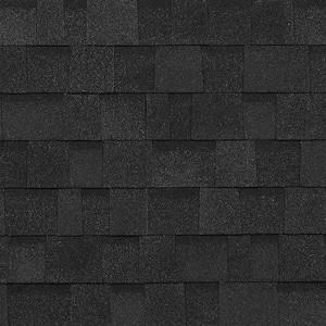 Oakridge Onyx Black Laminate Architectural Roofing Shingles (32.8 sq. ft. per Bundle)