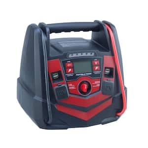 5 in 1 Portable Power Pack Jump Starter Air Compressor Work Light 12-Volt/USB Power 12 Ah