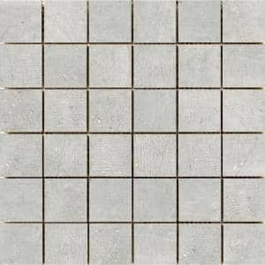 Uptown Manhattan 11.81 in. x 11.81 in. x 9mm Porcelain Mesh-Mounted Mosaic Tile (0.97 sq. ft.)