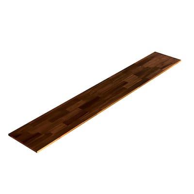 3/4 in. x 16 in. x 8 ft., Square Edge, Espresso, Acacia, Select Appearance Board