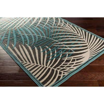 Guaral Teal 5 ft. x 8 ft. Indoor/Outdoor Area Rug
