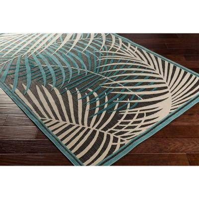 Guaral Teal 8 ft. x 8 ft. Indoor/Outdoor Square Area Rug