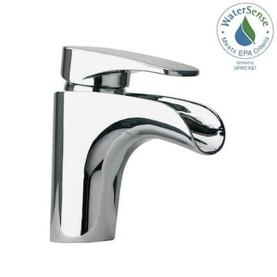 Novello Single Hole Single-Handle Low-Arc Waterfall Bathroom Faucet in Chrome