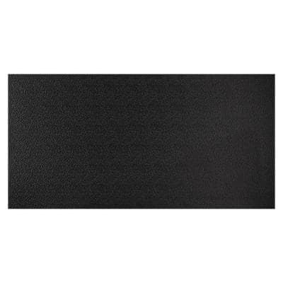 23.75 in. x 47.75 in. Stucco Pro Vinyl Lay in Black Ceiling Tile (Case of 10, 8 sq. ft. Covered/Tile, 80 sq. ft. /Case)