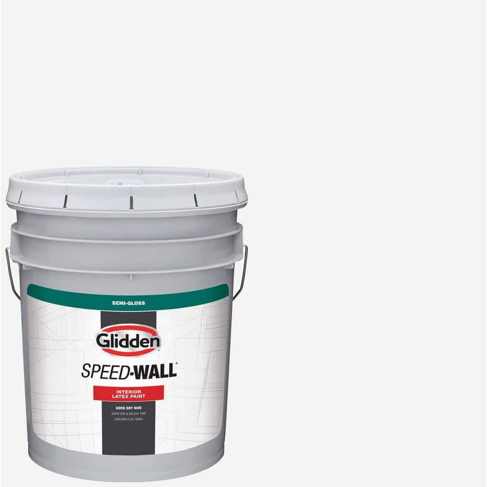 Glidden Professional 5 Gal Speed Wall Semi Gloss Interior Paint Gps 5000 05 The Home Depot
