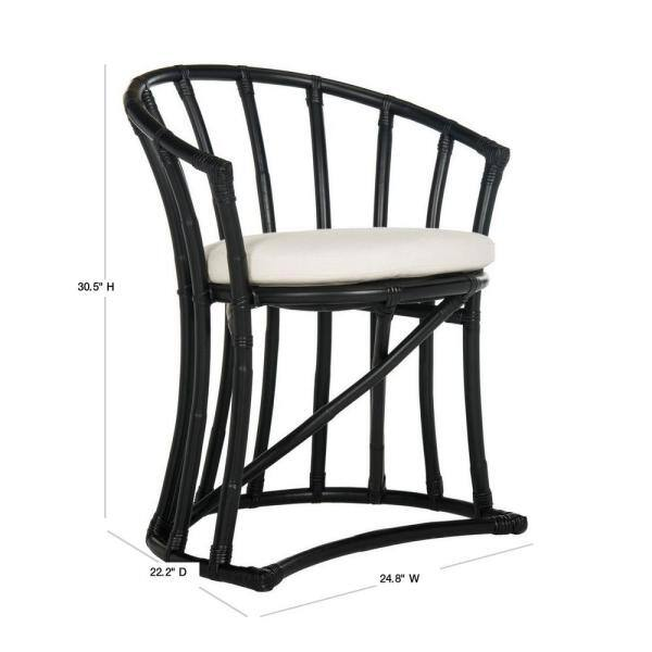 Safavieh Bates Black White Accent Chair Wik6500a The Home Depot