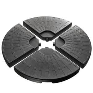 13.23 lbs. Plastic Free Standing Easy Water or Sand Filled Patio Umbrella Base in Black