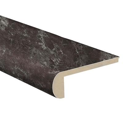Dragon Glass Limestone 1 in. T x 4-1/2 in. W x 94 in. L Vinyl Flush Stair Nose Molding