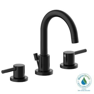 Eastport II 8 in. Widespread Double Handle Bathroom Faucet in Matte Black