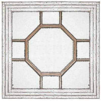 Large Rectangle Antiqued Mirror Contemporary Mirror (48 in. H x 48 in. W)