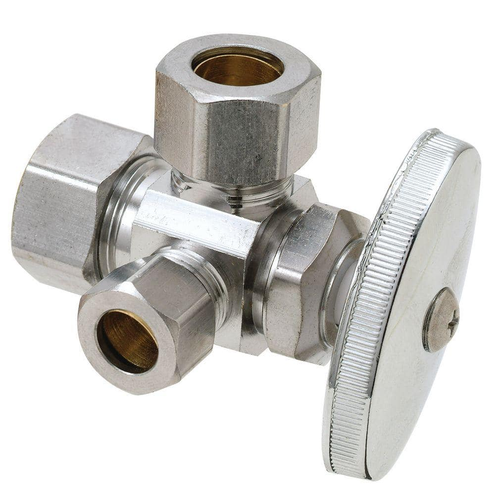 1x Compression Joint Service Hot//Cold shut-off valve 15mm fitting.