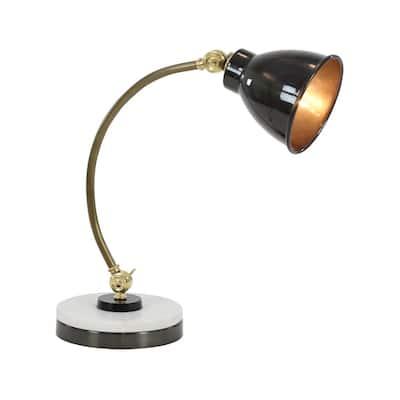 20 in. Black Metal Desk Lamp