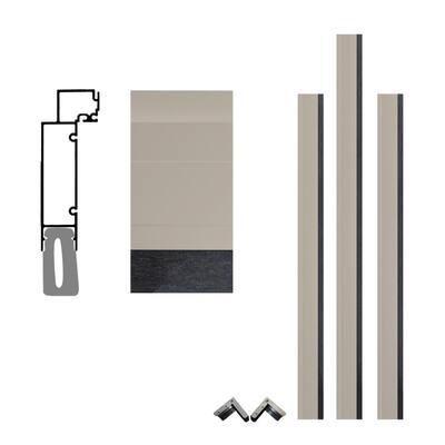 Pro Series 7-1/2 in. x 96 in. x 96 in. Sandstone Aluminum Clad Garage Door Frame with Crownline Casing