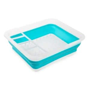 14.37 in. x 12.25 in. Collapsible Dish Rack in Key West