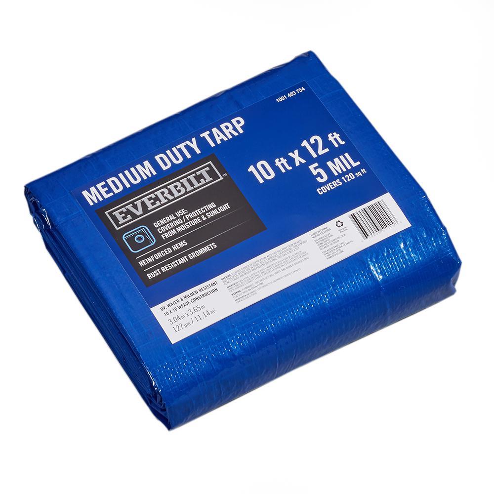 10 ft. x 12 ft. Blue Medium Duty Tarp