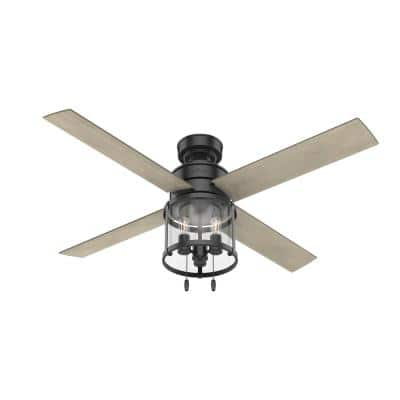 Astwood 52 in. Indoor Matte Black Ceiling Fan with Light Kit