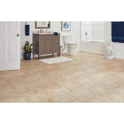 Portland Stone Beige 18 in. x 18 in. Glazed Ceramic Floor and Wall Tile (17.44 sq. ft. / case)