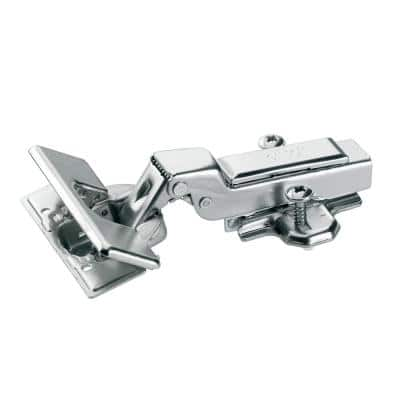 Concealed Half Overlay 1-3/8 in. (35 mm) Frameless Hinge, Toolless Clip-On Cup assembly (10-Pack)