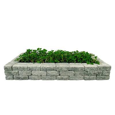 RomanStack 83 in. x 39 in. x 12 in. Cascade Blend Concrete Raised Garden Bed