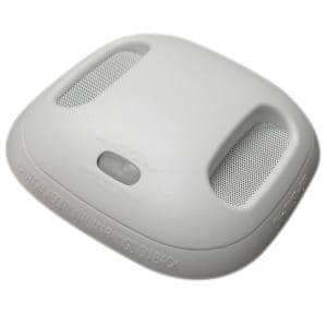 Battery Operated Smoke and Carbon Monoxide Combination Detector with Wire-Free Interconnect and Voice Alarm