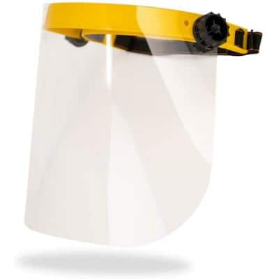 Yellow, Reusable Facial Protection Clear Face Shield (1-Pack)