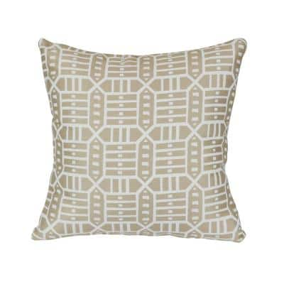 Roland Hemp Square Outdoor Accent Lounge Throw Pillow