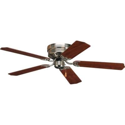 AirPro Hugger 52 in. Indoor Brushed Nickel Ceiling Fan