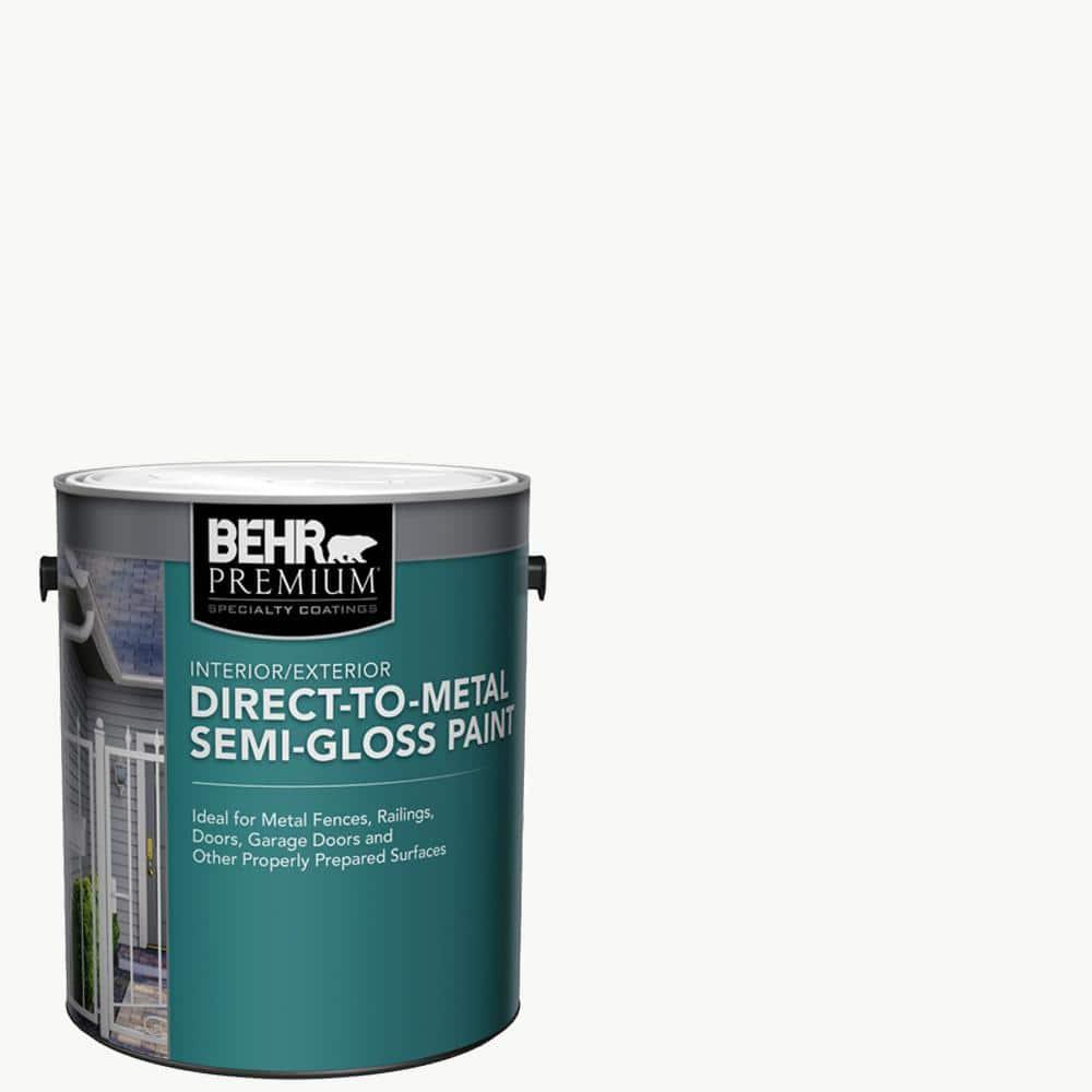 BEHR PREMIUM 1 Gal. White Semi-Gloss Direct to Metal Interior/Exterior Paint