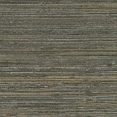 Shandong Chocolate Ramie Grasscloth Chocolate Wallpaper Sample