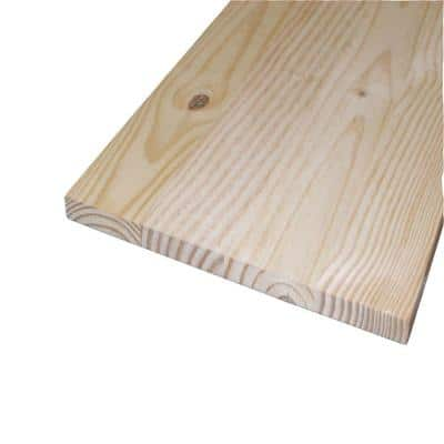 3/4 in. x 16 in. x 4 ft. S4S Laminated Spruce Panel Board