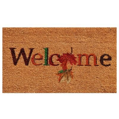 Fall Beauty 17 in. x 29 in. Coir Door Mat