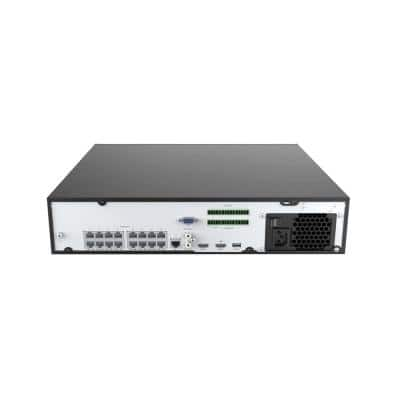 Ultra HD Plus Commercial Grade 16-Channel 4TB NVR Surveillance System with 8 Audio Capable 4-MP Cameras & 8 CAT5E Cable