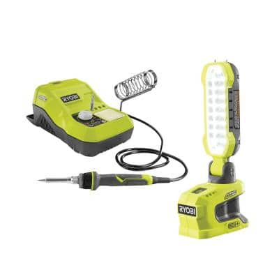 18-Volt ONE+ Hybrid Soldering Station and Hybrid LED Project Light (Tools Only)