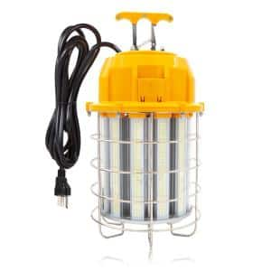 18,000 Lumens 150-Watt High Bay Temporary Job Site Hanging LED Linkable Work Light 360° Light and 10 ft. Power Cord