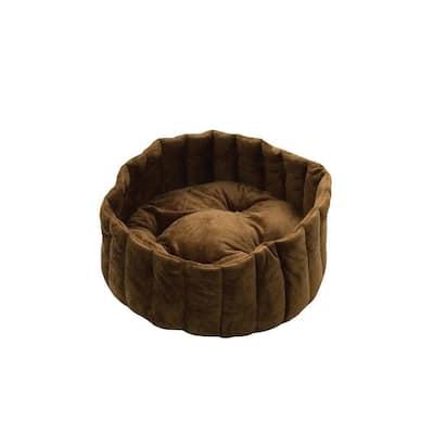 Lazy Cup Large Tan/Mocha Cat Bed