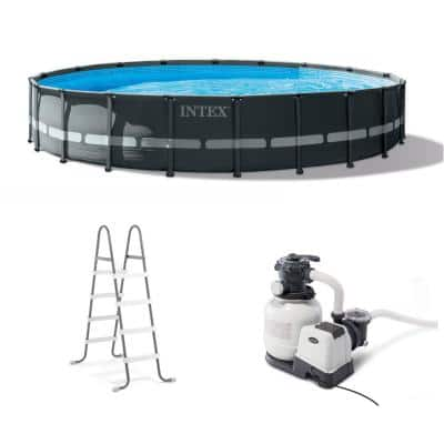 20 ft. x 48 in. Ultra XTR Frame Round Swimming Pool Set with Sand Filter Pump